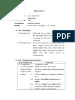 Rpp Aljabar Kelas Viii Kd 3.1