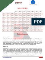 SOLUTIONS SBI Clerk JA Prelim Free Mock Test 1 Banking Mantras