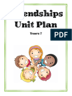 friendships unit plan
