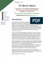 Oil Market Basics