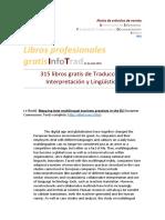 315 Libros Gratis de Traducción