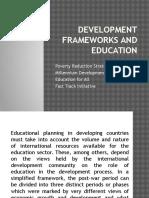 development frameworks and education