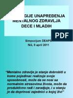 07. Strategije Prevencije Mentalnih Poremecaja, V. Ispanovic