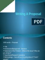 Writing a Proposal