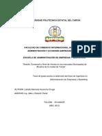 164 Gestión Comercial y Nivel de Ventas en Los Mercados Municipales de Abastos de La Ciudad de Tulcán