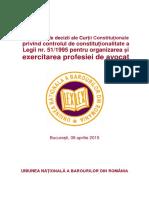 Culegere Decizii Control Constitutionalitate Legea-51-1995 Final-WEBSITE