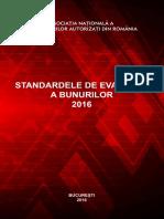 Standardele de Evaluare a Bunurilor 2016