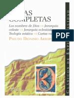 Pseudo Dionisio Areopagita Obras completas.pdf