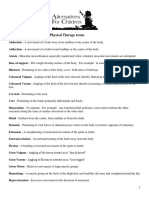 Physical Therapy Glossary