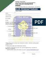Formulir Pendaftaran Semnas 2013