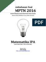Pembahasan Soal SBMPTN 2016 Matematika IPA Kode 252 (Sampel Version - Unfinished) (1)