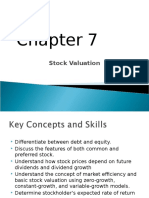 Chap7 Stock Valuation