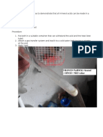 Nitric Acid Preparation