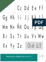 Cartel Alfabeto Libro de Texto-Primaria Primer Grado