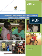 Early Childhood Development Policy Review