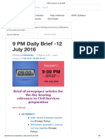 9 PM Daily Brief -12 July 2016