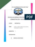 LOGICA FORMAL . PENSAMIENTO HUMANO.doc
