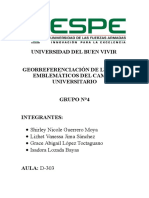 Georeferenciación de los lugares emblemáticos de la ESPE