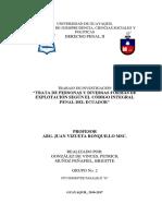 Trabajo Sobre Trata de Personas Muñoz y Gonzalez