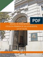 Manual Remuneraciones de Salud Municipal 2016