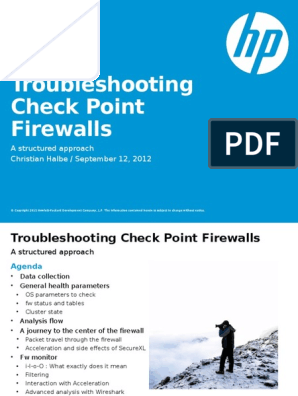 Checkpoint Troubleshooting pptx | Firewall (Computing) | Routing