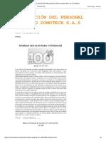 Vinculación Del Personal Al Grupo Domotech s.A