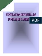 Ventilación Definitiva de Túneles