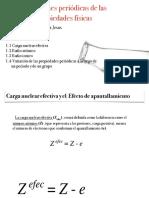 Variaciones Periodicas de Las Propiedades Fisicas
