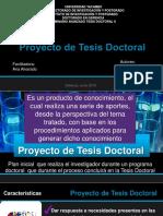Proyecto de tesis doctoral