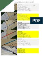 Catalogo de armas en Peru de importación de tienda española