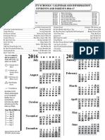 2016-2017 district calendar