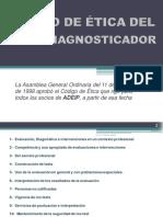 CÓDIGO DE ÉTICA DEL PSICODIAGNOSTICADOR - A.D.E.I.P. (by CA)