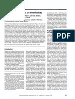 Efectos de Los Micronutrientes en La Toxicidad Por Metales