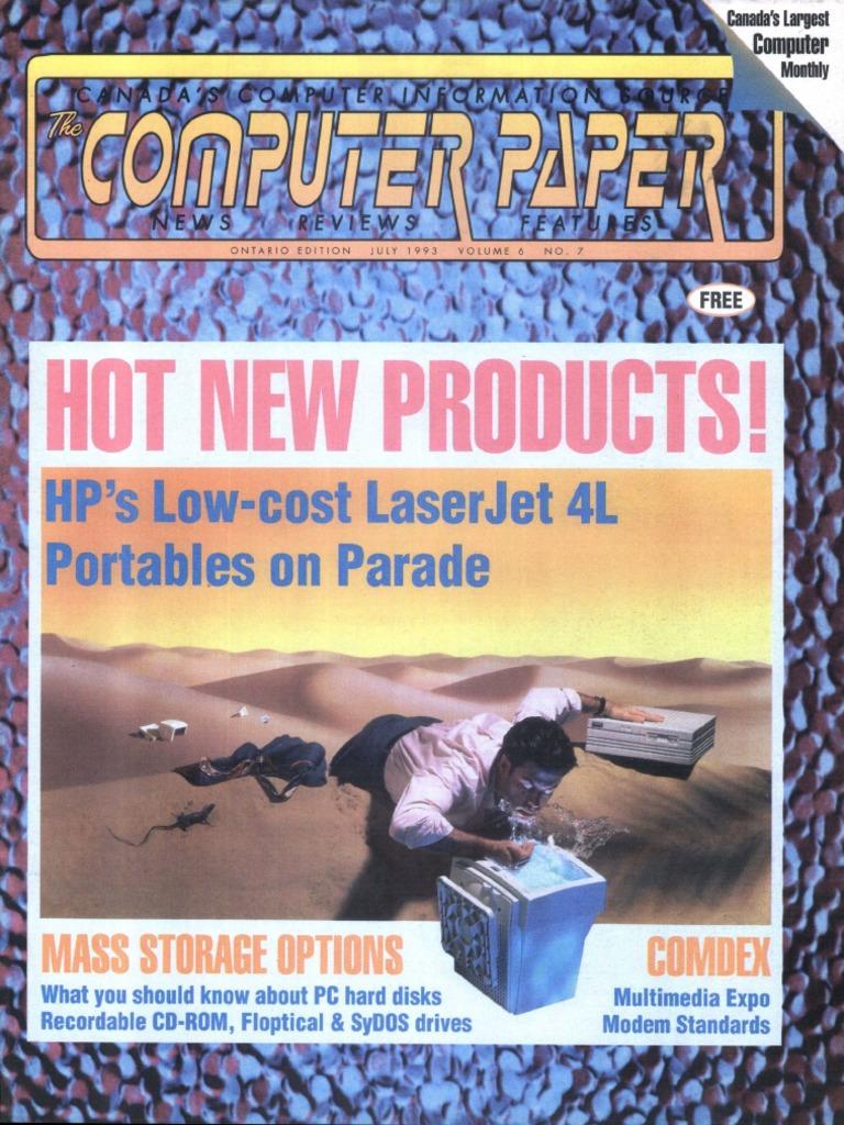 1993 07 The Computer Paper Ontario Edition Zip Code Dos Block Diagram Hpbusinessinkjet3000dtn