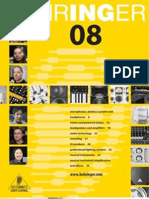 BEHRINGER-Full-Line-Catalog-2008-ENGLISH | Microphone