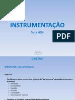 Aula 02 - Instrumentação 20150826