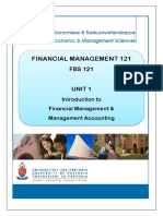 Unit 1 - Introduction to Financial Management and Management Accounting
