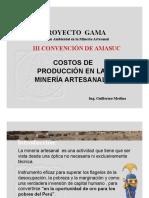 Costos en Minería Artesanal