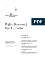 2012 Hsc Exam English Adnmvanced p2