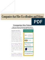 Companies That Hire Felons - Get This Updated List