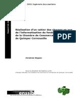 975 Realisation d Un Cahier Des Charges en Vue de l Informatisation Du Fonds Documentaire de La Chambre de Commerce Et d Industrie de Quimper Cornouaille
