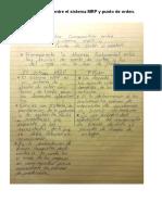 Cuadro Comparativo Entre El Sistema MRP y Punto de Orden