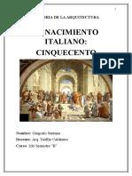 Historia de La Arquitectura RENACIMIENTO ITALIANO
