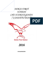 Dokis First Nation Draft Constitution July 12 2016