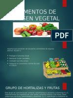 Alimentos de Origen Vegetal