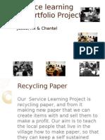 Presentation on 8th Grade Service Learning - Ali, Jusob and Chantel
