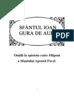 Sf.Ioan Gura de Aur Omilii la epistola catre Filipeni a Sfantului Apostol Pavel