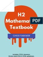 H2 Mathematics Textbook (Choo Yan Min) Scribd
