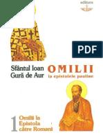 Sf.Ioan Gura de Aur Omilii la Epistola catre Romani