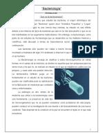 Reporte bacteriología